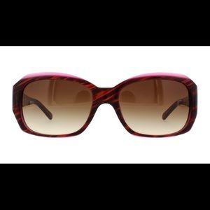 DKNY Striped Brown/Violet Sunglasses